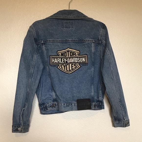 Harley-Davidson Jackets & Blazers - VINTAGE Harley Davidson Denim Jacket
